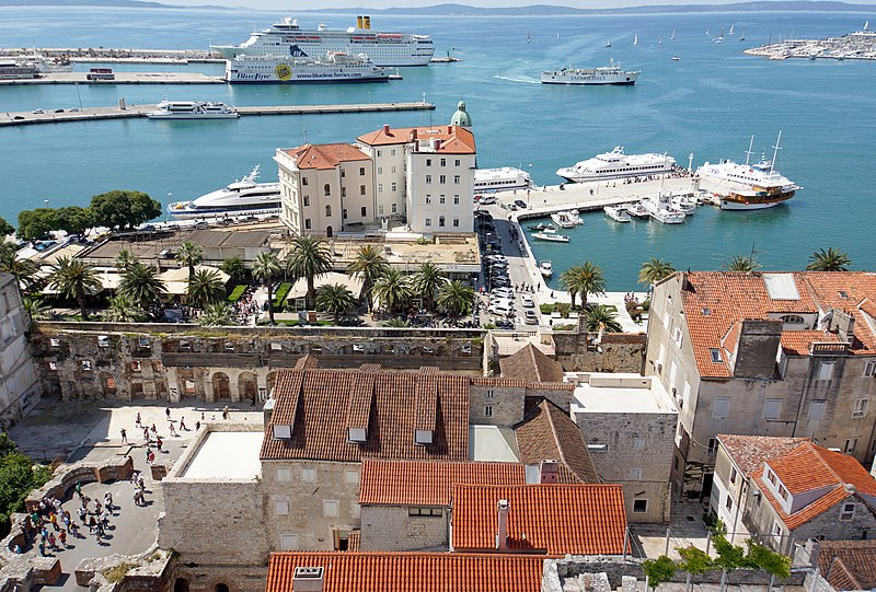 Split, Croatia - Explore Croatia Bosnia Montenegro by in-depth cultural tour 15 days. Monterrasol Travel minivan private tour.