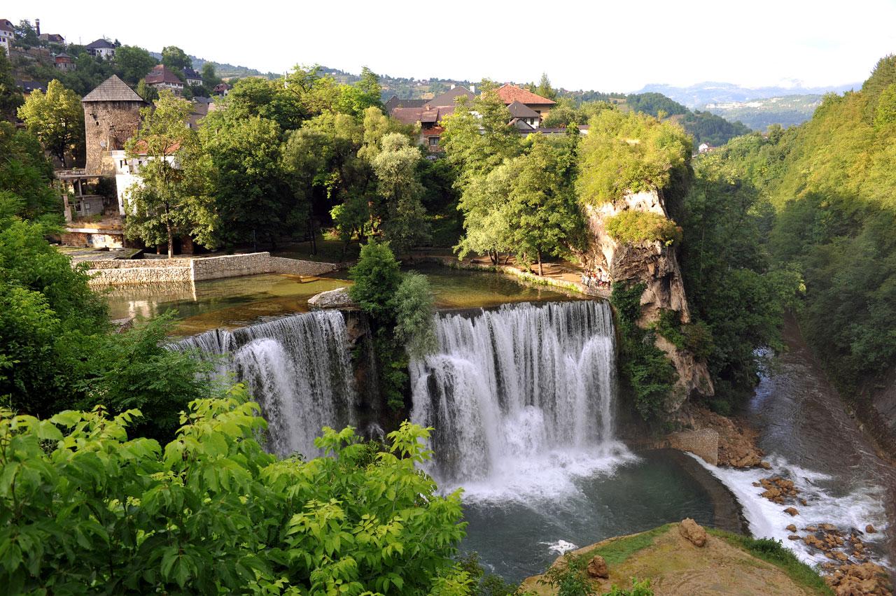 Jajce, Bosnia and Herzegovina - All seasons 12 days tour across Bosnia from Tivat. Minivan private tour by Monterrasol Travel.