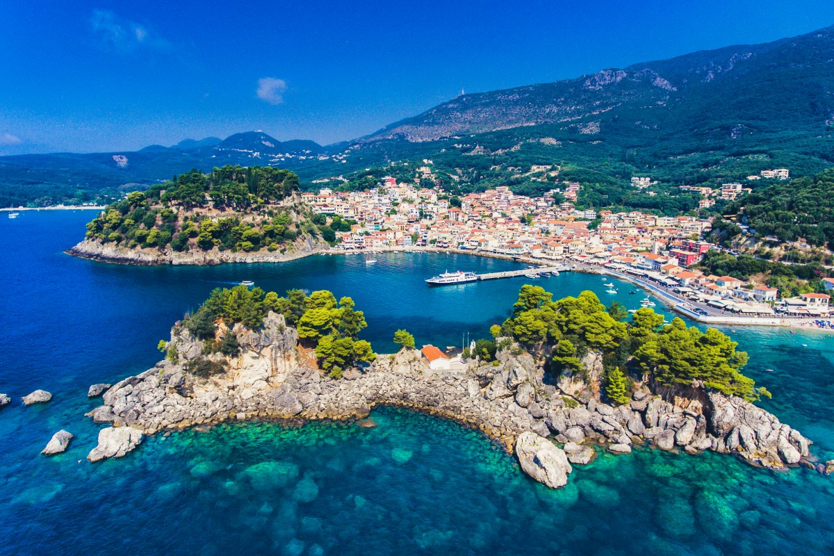 Parga, Greece - Off-season 19 days tour Greece UNESCO sites from Igoumenitsa. Ancient towns, castles, monasteries. Private minivan tour by Monterrasol Travel.