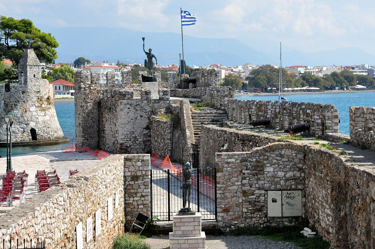 Nafpaktos, Greece - Discover Greece in 13 days tour from Igoumenitsa. Monasteries, castles, UNESCO sites. Private tour with minivan from Monterrasol Travel.