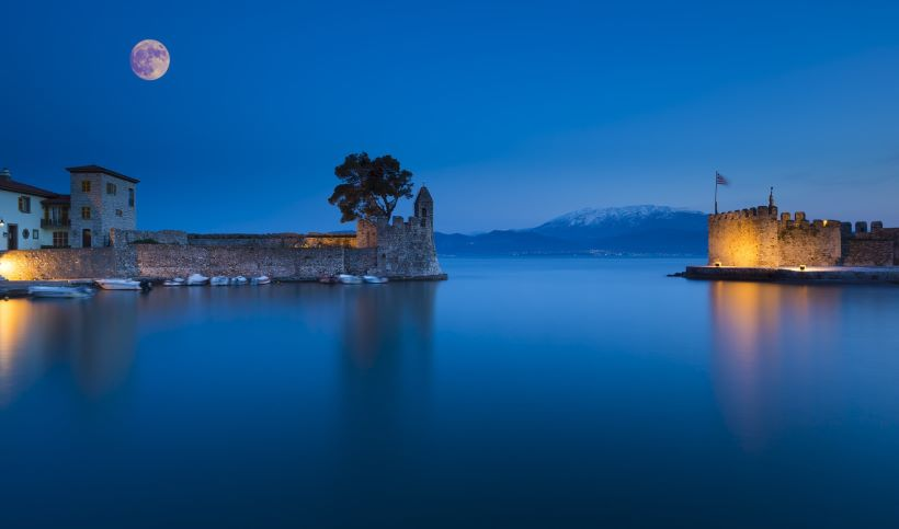 Nafpaktos, Greece - Monterrasol private tours to Nafpaktos, Greece. Travel agency offers custom private car tours to see Nafpaktos in Greece. Order custom private tour to Nafpaktos with departure date on request.