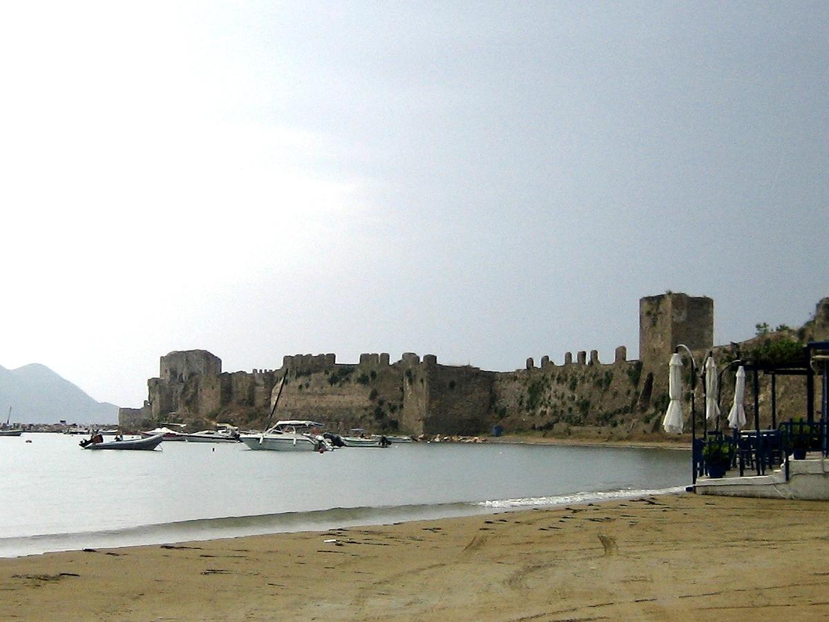 Methoni, Greece - Off-season 26 days tour Greece UNESCO sites from Igoumenitsa. Ancient towns, monasteries, castles. Private tour from Monterrasol Travel in minivan.