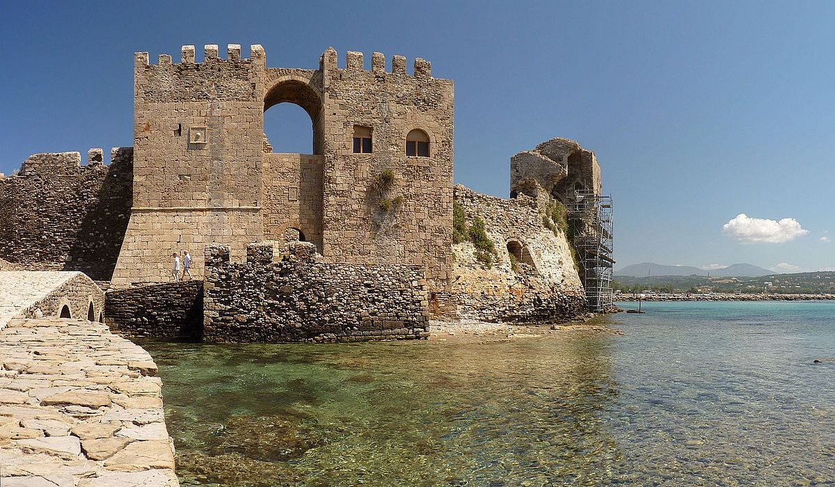 Methoni, Greece - Greece off-season UNESCO places tour 25 days from Athens. Private tour in minivan from Monterrasol Travel.