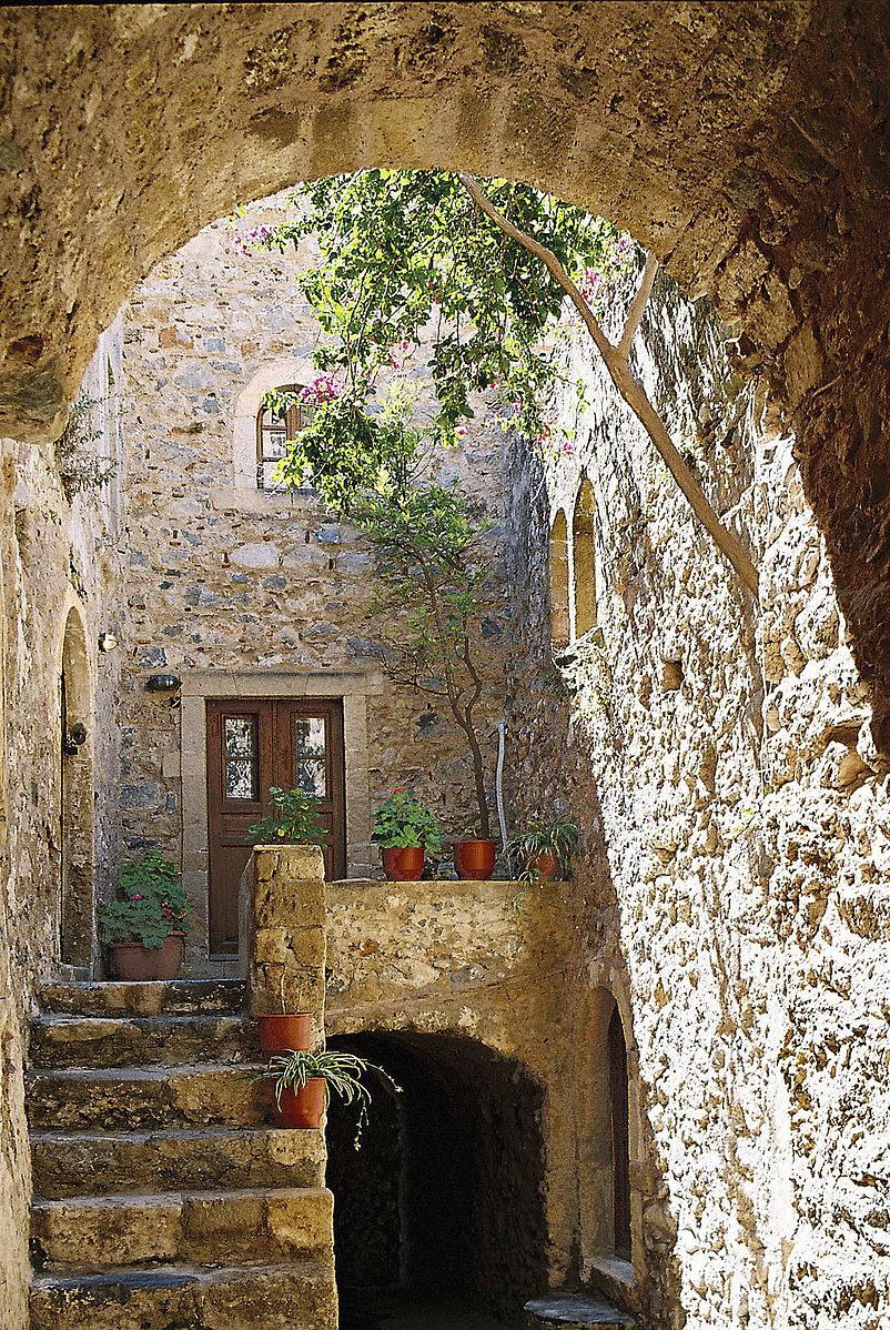 Monemvasia, Greece - Greece off-season UNESCO places tour 25 days from Athens. Private tour in minivan from Monterrasol Travel.