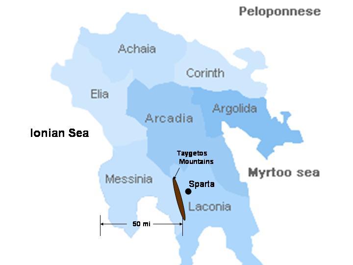Sparta, Greece - Amazing south Balkans 18 days tour from Dubrovnik to Athens. Private minivan tour by Monterrasol Travel.